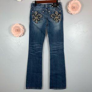 Miss Me Boot Embellished Pockets Sz 26 Pants K956